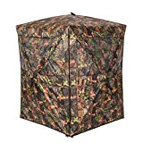 Vulture Pop-up Portable 2 Person Ground Hunting Blinds, 48 x 48 x 65 inches Camo Pattern Oxford Fabric