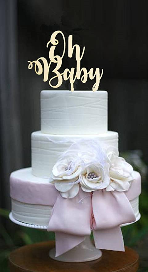 Amazon Baby Shower Favors Oh Baby Wood Cake Topper Kids