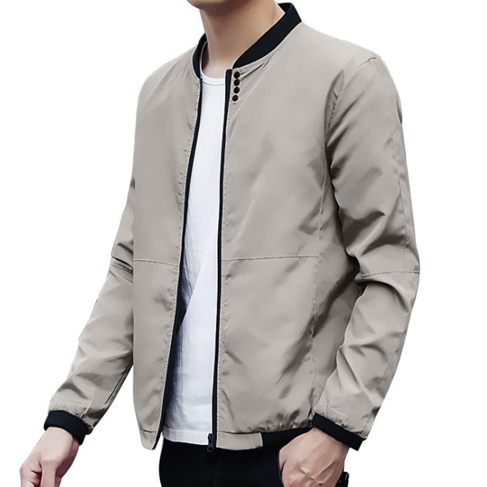 Men Jacket,Autumn Winter Peacoat Mens Jackets Coats Male (XXXL, Gray)
