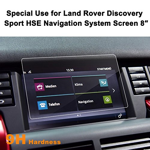 Land Rover Discovery Sport HSE 2015-2016 8-Inch Car Navigation Screen Protector,LFOTPP [9H Hardness] Tempered Glass In-Dash Screen Protector Center Touch Screen Protector Anti Scratch High Clarity ()
