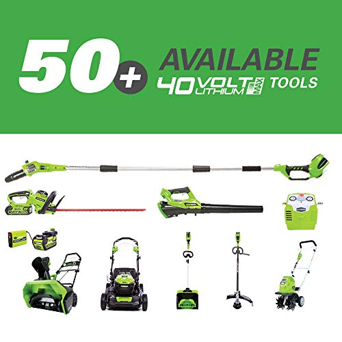 Greenworks 8 Inch 40V Cordless Pole Saw with Hedge Trimmer Attachment 2.0 AH Battery Included PSPH40B210