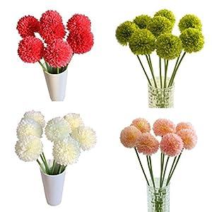 Sunwar(TM) 5pcs Lavender Ball Artificial Silk Flowers Bouquet Home Wedding Party Decor 58