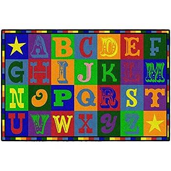 Amazon Com Nuloom Pinkie Handprint Nursery Kids Rug 6 7