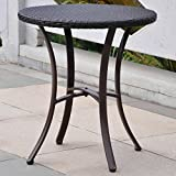 International Caravan Barcelona 28'' Bistro Table in Chocolate