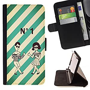 - Retro Clock cartoon - - Monedero pared Design Premium cuero del tir?n magn?tico delgado del caso de la cubierta pata de ca FOR Samsung Galaxy S4 Mini i9190 Funny House