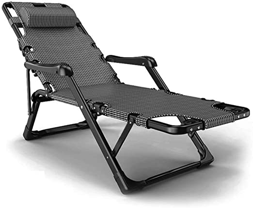 ZJJY Tumbona Plegable,Tumbonas Jardin Exterior Reclinable Gravedad Cero Ligera Silla Sillas Playa Plegables Camas para Muebles Camping Terraza Playa Piscina, Negro, L028XQ (Color : Gray): Amazon.es: Hogar