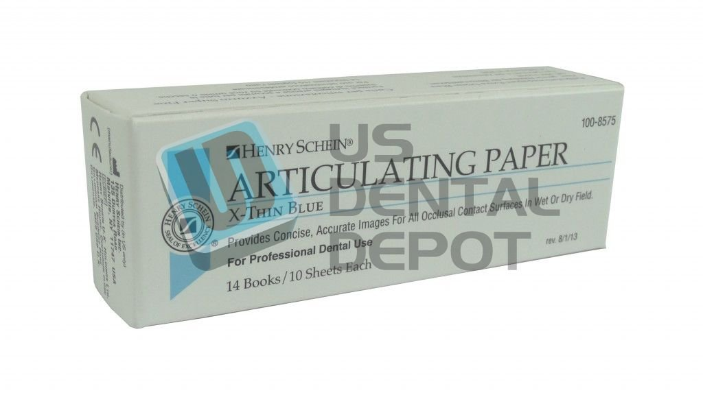 HS - Extra Thin Blue 14 books ×10 sheets- 38µ Articulating Paper #100-8575 [ papel de articular ] HS - Extra Delgado Azul 14 books ×10 sheets- 38µ Articulating Paper #100-8575 102776 DENMED Wholesale