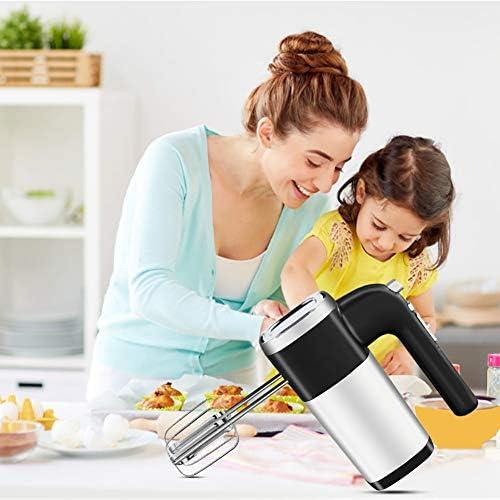 QQO Batteur, 5 Vitesses 500W électrique Batteur à Main Cuisine Pâte Blender avec 2 Egg Beaters et de pâte à Crochets 220 V