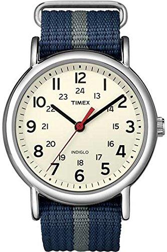 Timex Herren-Armbanduhr Eierschale Analog Nylon T2N654PF