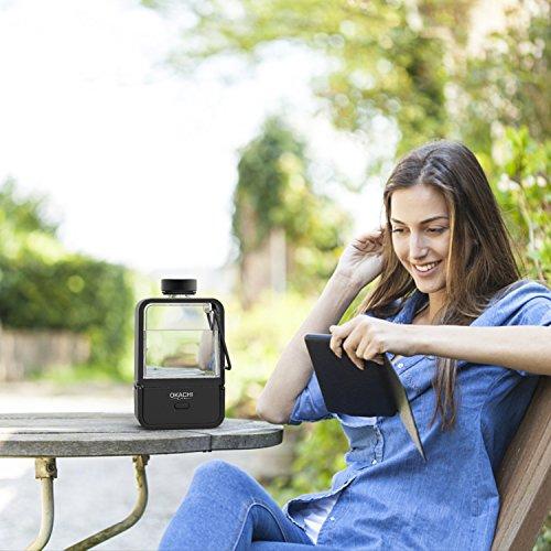 OKACHI GLIYA BPA-Free Portable Nano-Grade Hydrogen Rich Water Bottle Pitcher Rechargeable Ionized Water Generator Anti-Aging Antioxidant Generator Machine Healthy Water Purfier …