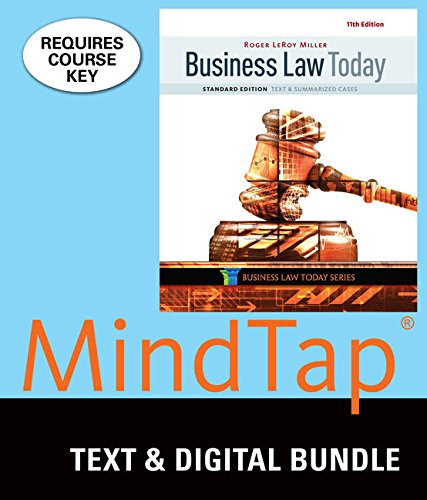 Bundle: Business Law Today, Standard: Text & Summarized Cases, Loose-Leaf Version, 11th + MindTap Business Law, 1 te