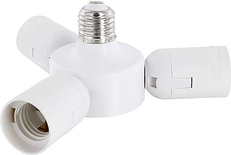 Adapter Lampen Sockel LED E27 Fassung 3-fach Adapter auf 3x E27 Schraubfassungen