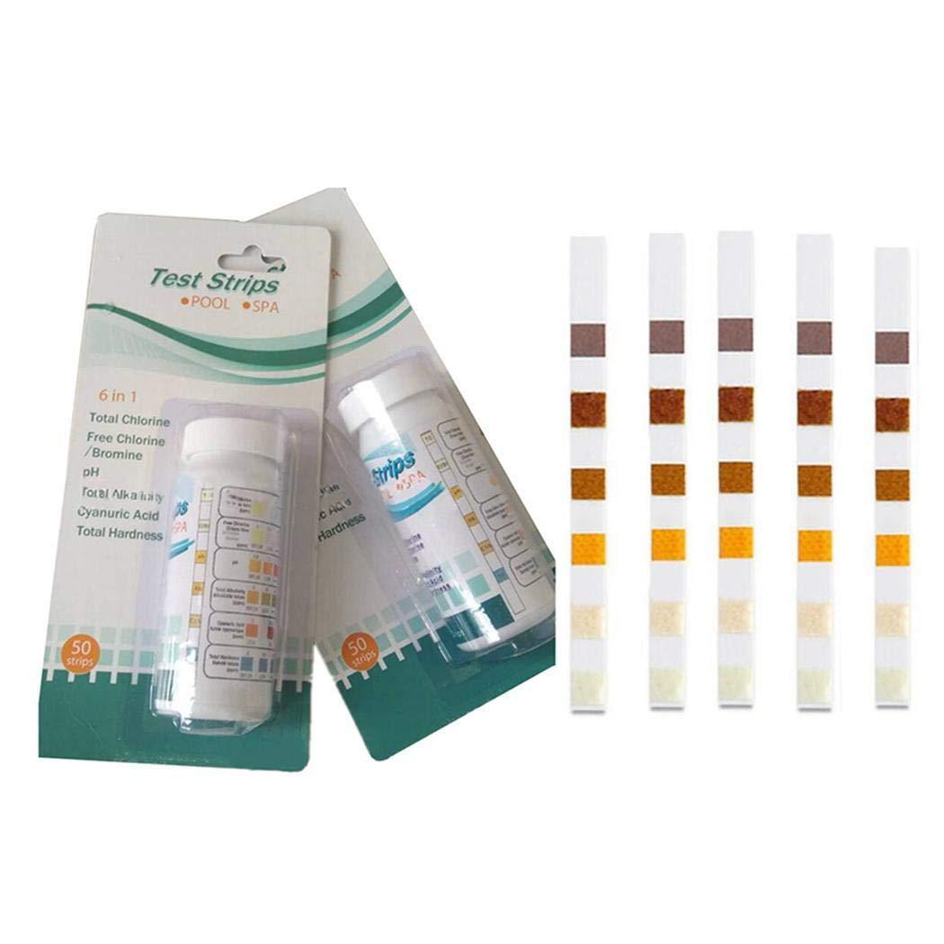 Lantusi Swimming Test Strips SPA Chlorine PH Alkalinity Water Hardness Testing Papers pH Meters