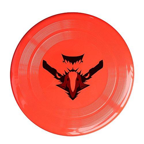 [YYHU - Plastic Doubutsu Sentai Zyuohger Zyuoh Eagle Logo Frisbee Disk/disc - Red] (Power Ranger Samurai Antonio Costume)