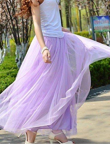 GSP-Frauen Gaze lässig hohe Taille flauschigen Tutu Maxi-Rock
