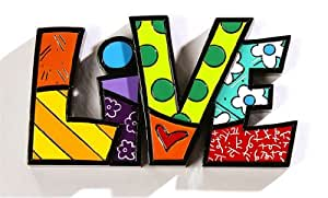 Romero britto word decor live by giftcraft for Gift craft home decor