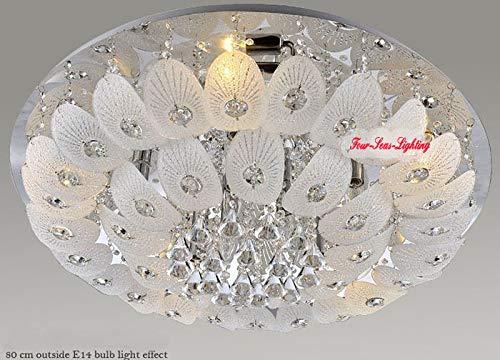 FidgetGear Modern K9 Crystal Chandelier Pendant Ceiling Lighting Living Room Pendant Lamp D50CM/19.7'' by FidgetGear (Image #2)
