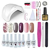 Best Gelish Nail Kits - Vishine Gel Nail Polish Starter Kit - 48W Review