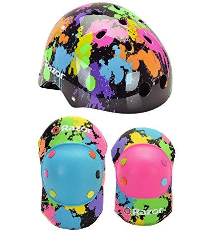Razor Splatter Children's Multi-Sport Helmet and Elbow Pad Set