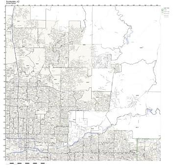 Map Of Scottsdale Arizona Zip Codes.Scottsdale Az Zip Code Map Laminated