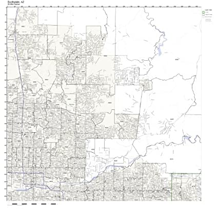 Amazon.com: Scottsdale, AZ ZIP Code Map Laminated: Home & Kitchen