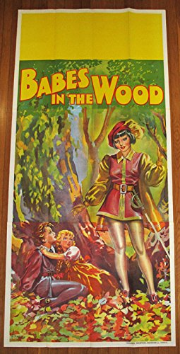 1930s - Large 3 Sheet Babes in the Wood Pin-Up Stone Lithograph Theater Poster
