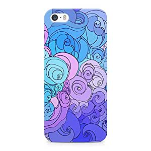 Loud Universe Swirl Clouds Pretty Blue Tone Durable Sleek Wrap Around iPhone SE Case - Blue and Pink