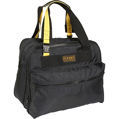 A. Saks EXPANDABLE 16 Deluxe Tote Bag - (Deluxe Expandable Shoulder Tote)