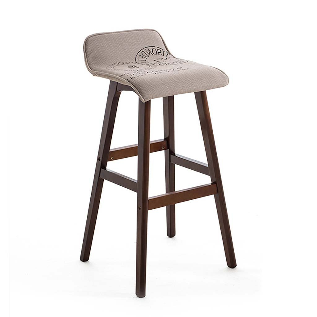 Beige TLMY Solid Wood Bar Chair Creative Bar Stool European Bar Stool High Stool Chair (color   Beige)