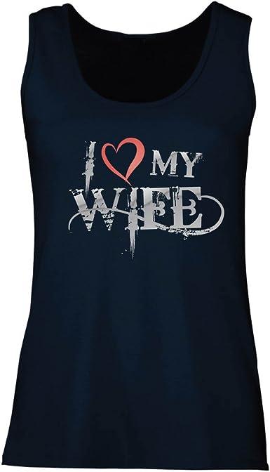 lepni.me Camisetas sin Mangas para Mujer Amo a mi Esposa ...