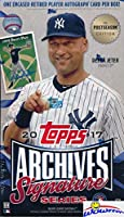 2017 Topps Archives Signature Series Postseason Edition MLB Factory Sealed HOBBY BOX with Encased AUTOGRAPH Numbered Buyback! Look for SIGNED ON-CARD Autographs of Sandy Koufax, Derek Jeter & More!