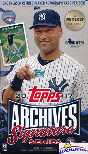 2017 Topps Archives Signature Series Postseason Edition MLB Factory Sealed HOBBY BOX with Encased AUTOGRAPH Numbered Buyback! Look for SIGNED ON-CARD Autographs of Sandy Koufax, Derek Jeter & More! from Wowzzer