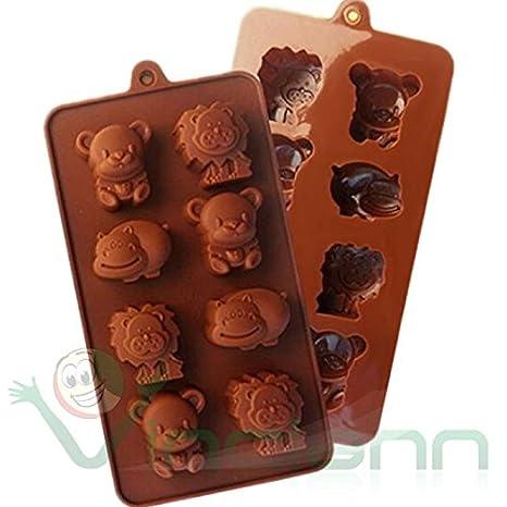 Molde forma silicona animales selva Gelatina Chocolate Bombones Caramelos: Amazon.es: Electrónica