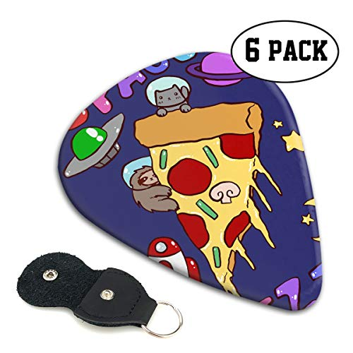 (MKJIH Space Pizza Cat-6 Pack Abstract Pick Sampler for Guitar Bass)