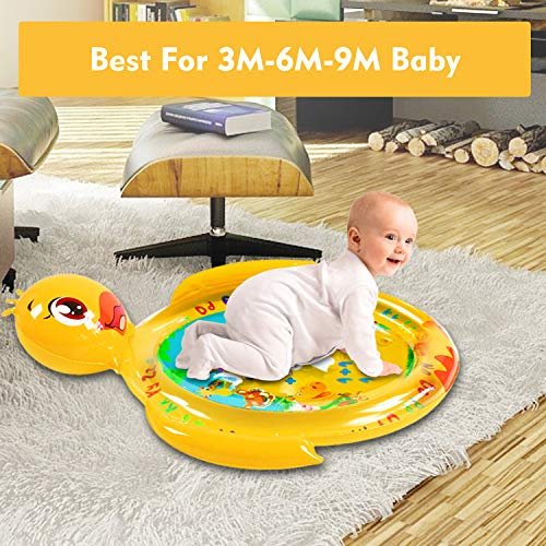 Tuptoel Tummy Time Mat, Baby Toys Infant Toys Baby Play Mat Inflatable Newborn Infant Toys Activity Baby Sensory Toys Baby Activity Mat Tummy time Toy, CPSC Certified