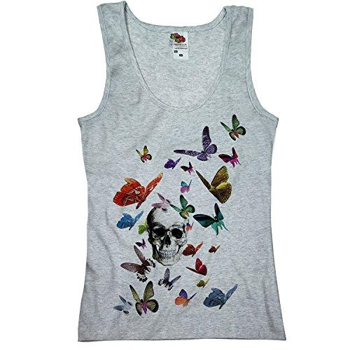 TEE-Shirt - Camiseta sin mangas - manga corta - para mujer gris