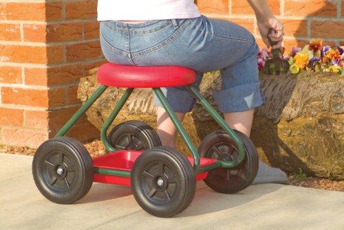 Nrs healthcare m10280 sgabello da giardino con ruote: amazon.it