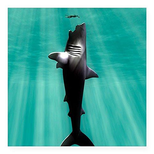 (CafePress Megalodon Prehistoric Shark Square Sticker 3