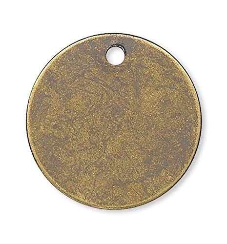 - Pendant Jewelry Making for Bracelets and Chains 100 Antiqued Gold Plated Brass 12mm Disc Coin Drop Charms Rounds