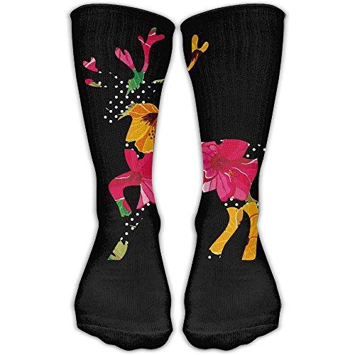 YUANSHAN Socks Flower Skin Deer Women & Men