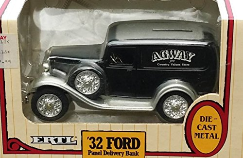 Ertl AGWAY Country Values Stores 1932 BLACK Ford Panel Delivery Truck in 1:25 Scale Diecast Metal