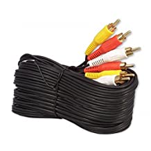 iMBAPrice® 50FT RCA M/Mx3 Audio/Video Cable Gold Plated - Audio Video RCA Cable 50 feet