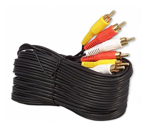 iMBAPrice 50FT RCA M/Mx3 Audio/Video Cable Gold Plated - Audio Video RCA Cable 50 feet