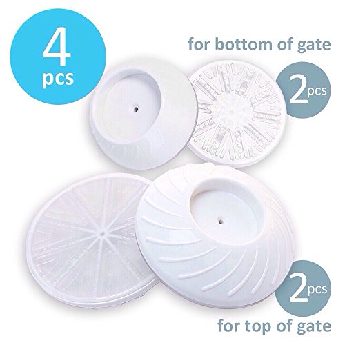 "Art:Ego â""¢ Wall Saver for Pressure Gates 4 Pack Set (Top + Bottom Mini), Safety Guard Pads Installation, Protect for Child, Dogs, Puppy"