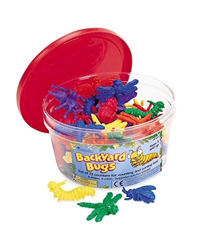 Learning Resources Backyard Bugs Counters, Set Of 72 by Learning Resources