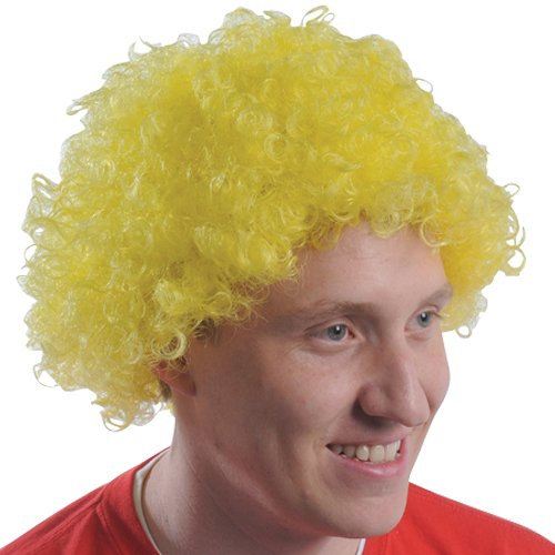 (DollarItemDirect Yellow Team Spirit Afro Wig , Sold by 20 Pieces)