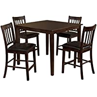 247SHOPATHOME IDF-3012PT-5PK Dining-Room-Sets, Brown