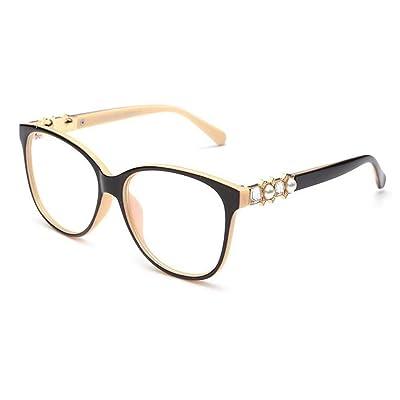 86b14e31368897 Meijunter Mode Élégant Filtre bleu clair Des lunettes pour Femme Charnière à  ressort Cadre Anti-