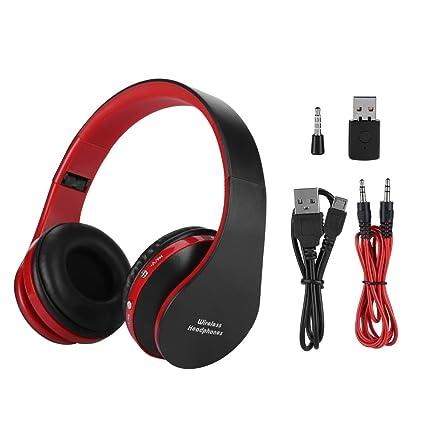 Auriculares para Juegos con micrófono, HI-FI Auriculares inalámbricos Plegables Auriculares Bluetooth para PC