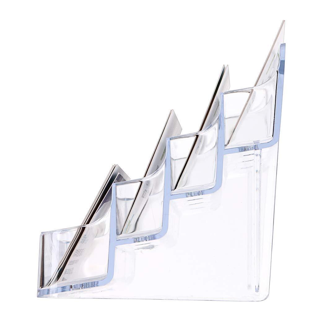 Hogar Hamosky 8 Pocket Acrylic Desktop Organizer Plastic Pen//Pencil Holder Organizador De Escritorio Nombre Comercial Titular De Tarjetas//Soporte Para Oficina